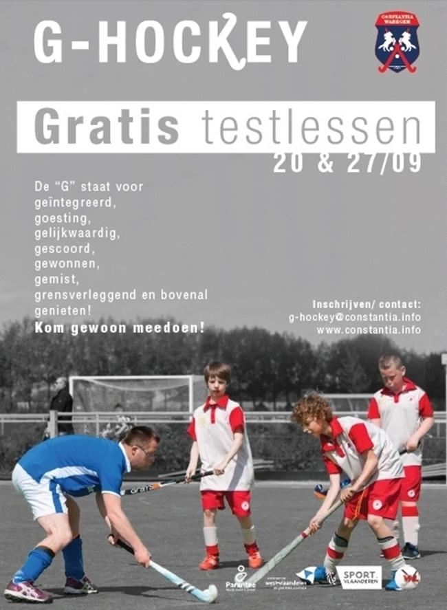 Nieuw: G-hockey in Waregem!