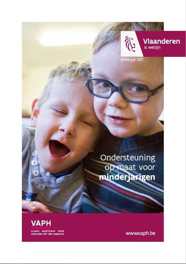Nieuwe brochure 'Ondersteuning op maat voor minderjarigen'