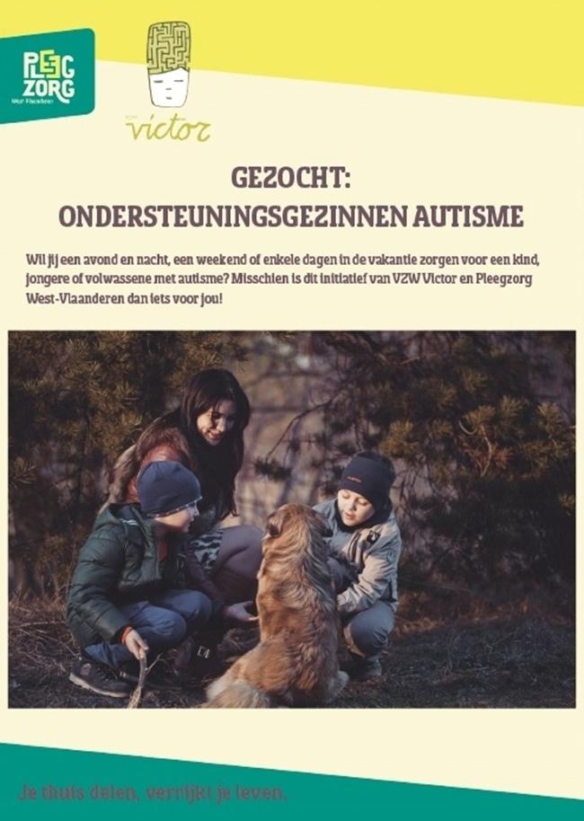 Gezocht: Ondersteuningsgezinnen autisme (West-Vlaanderen)